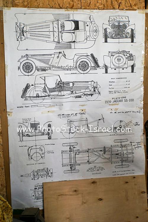 Vintage Car data sheet 1939 Jaguar SS-100