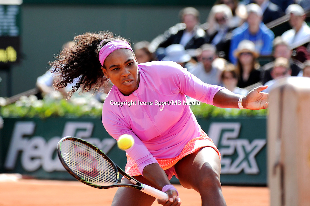 Serena WILLIAMS  - 01.06.2015 - Jour 9 - Roland Garros 2015<br /> Photo : Nolwenn Le Gouic / Icon Sport