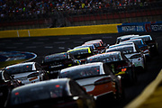 May 20, 2017: NASCAR Monster Energy All Star Race. Cars come to the restart during the All Star open