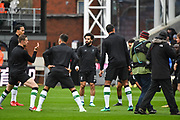 Liverpool players chat ahead of the Premier League match between Crystal Palace and Liverpool at Selhurst Park, London, England on 31 March 2018. Picture by Stephen Wright.