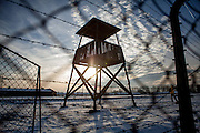 A guard tower at the Auschwitz Birkenau Nazi concentration camp. It is estimated that between 1.1 and 1.5 million Jews, Poles, Roma and others were killed in Auschwitz during the Holocaust in between 1940-1945.