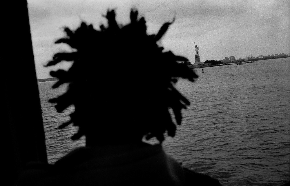 "Looking at the Statue of Liberty from the Staten Island Ferry...""I See A Darkness"" - Oct and Nov 2007..."