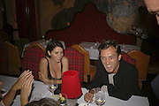 SADIE FROST AND JUDE LAW, Photos by Robert Mapplethorpe: Still Moving & Lady, Alison Jacques Gallery, 4 Clifford Street, London, W1, Dinner afterwards at the  The Dorchester with performance by Patti Smith, 7 September 2006.  ONE TIME USE ONLY - DO NOT ARCHIVE  © Copyright Photograph by Dafydd Jones 66 Stockwell Park Rd. London SW9 0DA Tel 020 7733 0108 www.dafjones.com