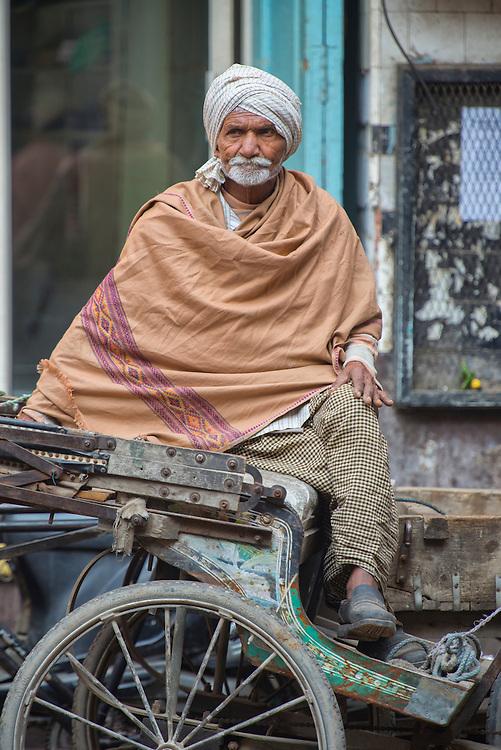 Asia, India, Punjab, Amritsar,rickshaw drive in town