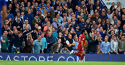 LONDON, ENGLAND - Saturday, September 29, 2018: Chelsea supporters shout at former player Liverpool's Mohamed Salah during the FA Premier League match between Chelsea FC and Liverpool FC at Stamford Bridge. (Pic by David Rawcliffe/Propaganda)