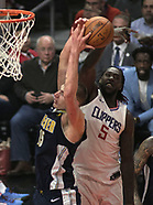Clippers vs Nuggets -  17 January 2018