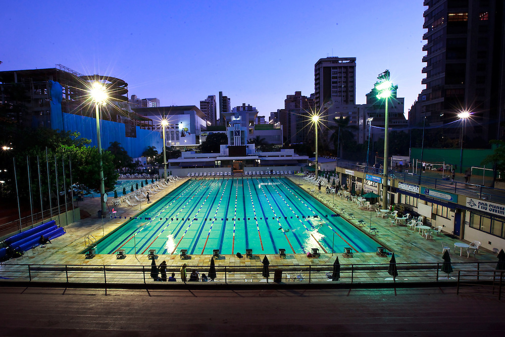 Belo Horizonte_MG, Brasil...Piscina Olimpica do Minas Tenis Clube em Belo Horizonte, Minas Gerais...Olympic Pool at Minas Tenis Club in Belo Horizonte, Minas Gerais...Foto: BRUNO MAGALHAES / NITRO
