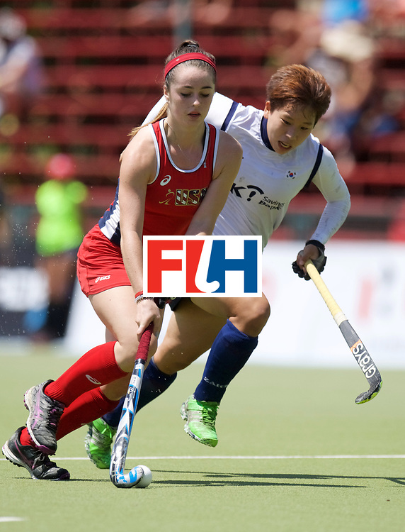 SANTIAGO - 2016 8th Women's Hockey Junior World Cup<br /> KOR v USA (Pool A)<br /> foto: Margaux Paolino.<br /> FFU PRESS AGENCY COPYRIGHT FRANK UIJLENBROEK