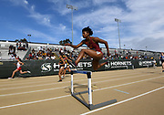 May24, 2018; Sacramento, CA, USA; Anna  Cockrell of Southern California wins women's 400m hurdle heat in 56.87 for the top time during the NCAA West Preliminary at Hornet Stadium.