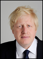 Portraits of the London Mayor Boris Johnson during his Mayoral Campaign, London, UK, April 13, 2012. Photo By Andrew Parsons / i-Images.