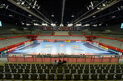 Arena in Varazdin before handball match between National teams of Spain and Czech Republic on Day 1 in Preliminary Round of Men's EHF EURO 2018, on Januar 13, 2018 in Skolsko Sportska Dvorana, Varazdin, Croatia. Photo by Mario Horvat / Sportida