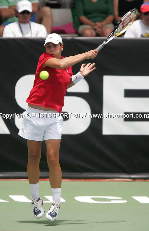 New Zealand's Marina Erakovic in action. ASB Classic Women's Singles Day 4. ASB Tennis Centre, Auckland, New Zealand. Thursay 3 January 2008. Photo: Hagen Hopkins/PHOTOSPORT