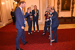 October 18, 2016 - London, United Kingdom - UK OUT Image licensed to i-Images Picture Agency. 18/10/2016. London, United Kingdom. Prince Harry at a reception for Team GB and ParalympicsGB medallists from the 2016 Olympic and Paralympic Games at Buckingham Palace in London. Picture by ROTA / i-Images  UK OUT (Credit Image: © Rota/i-Images via ZUMA Wire)
