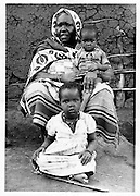 A Nubian mother with her two children in Kibera.  (1947)