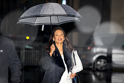 © Licensed to London News Pictures. 10/12/2017. London, UK. Anti-Brexit campaigner Gina Miller arriving at BBC Broadcasting House to appear on The Andrew Marr Show this morning. Photo credit : Tom Nicholson/LNP