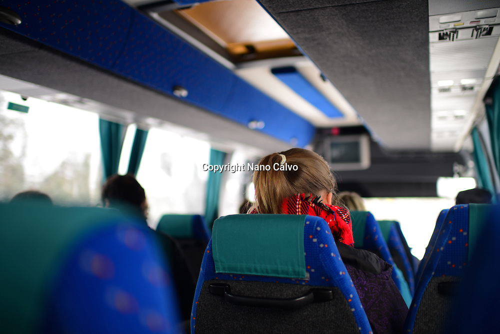 Inside the bus from Inari to Ivalo, Lapland