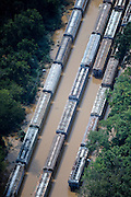 20090922  -  Atlanta, Ga : Constant rains for nearly a week saturated the metro Atlanta area bringing flood waters to these train cars as well as residents' doors, closing businesses and claiming the lives of at least eight by Tuesday, September 22, 2009. Cobb, Carroll, Douglas, DeKalb, Forsyth, Fulton, and Gwinnett County schools were closed because of the floods and resulting treacherous road conditions while business and homes were under water.   David Tulis         dtulis@gmail.com    ©David Tulis 2009