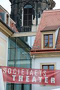 Dresden Neustadt, Hauptstrasse, Societaets Theater, Dresden, Sachsen, Deutschland.|.Dresden, Germany,  Dresden Neustadt, main street
