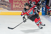 KELOWNA, CANADA - NOVEMBER 7: Tyson Baillie #24 of Kelowna Rockets warms up against the Spokane Chiefs on November 7, 2014 at Prospera Place in Kelowna, British Columbia, Canada.  (Photo by Marissa Baecker/Shoot the Breeze)  *** Local Caption *** Tyson Baillie;