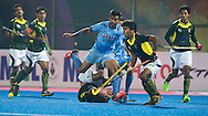 BHUBANESWAR (India) -  Hero Champions Trophy hockey men. Semifinal India vs Pakistan. Ali Shan of Pakistan and Manpreet Singh of India. Photo Koen Suyk