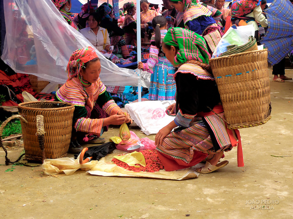Market scene at northern Vietnam