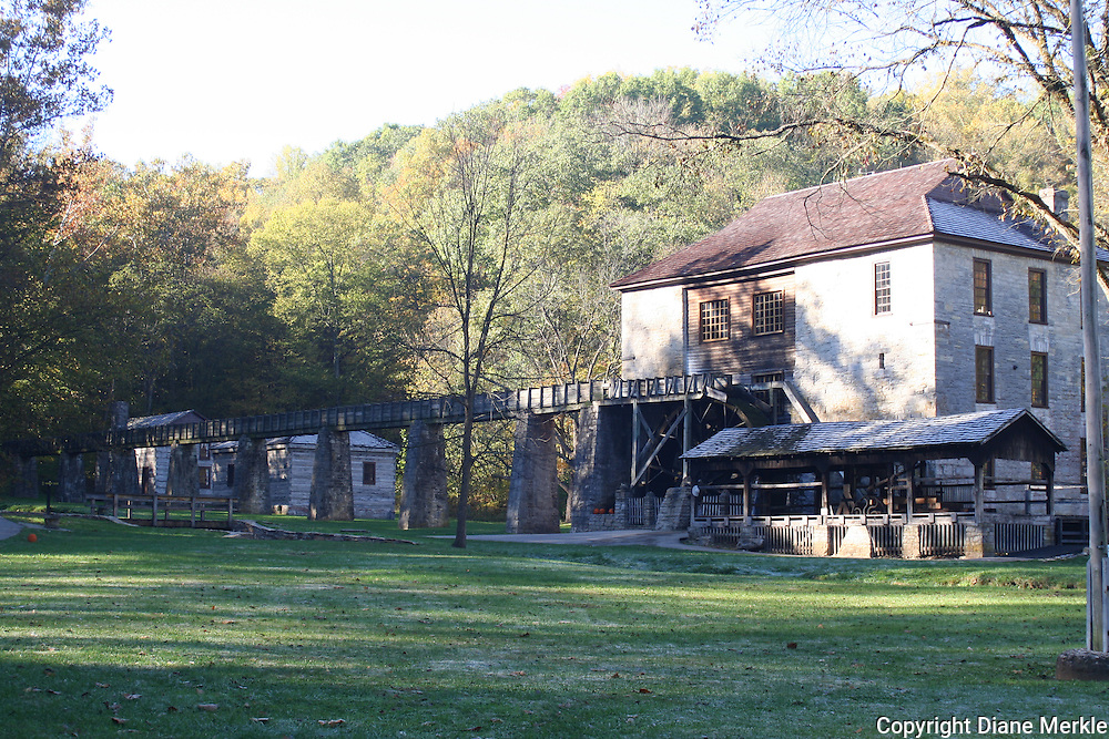 Spring Mill State Park, Mitchell, Indiana.  The old grist mill