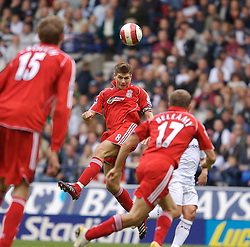 BOLTON, ENGLAND - SATURDAY, SEPTEMBER 30th , 2006: Liverpool's Steven Gerrard in action against Bolton Wanderers during the Premiership match at the Reebok Stadium. (Pic by David Rawcliffe/Propaganda)