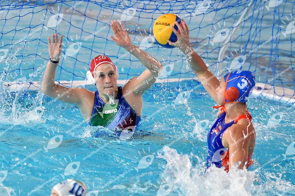 Giulia Gorlero Italy, Maartje Keuning Nederland <br /> Trieste 15/01/2019 Centro Federale B. Bianchi <br /> Women's FINA Europa Cup 2019 water polo<br /> Italy ITA - Nederland NED <br /> Foto Andrea Staccioli/Deepbluemedia/Insidefoto