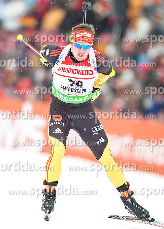 "20.01.2012, Südtirol Arena, Antholz, ITA, E.ON IBU Weltcup, 6. Biathlon, Antholz, Sprint Herren, im Bild Florian Graf (GER) // Florian Graf (GER) during Sprint Men E.ON IBU World Cup 6th, ""Southtyrol Arena"", Antholz-Anterselva, Italy on 2012/01/20, EXPA Pictures © 2012, PhotoCredit: EXPA/ Juergen Feichter"