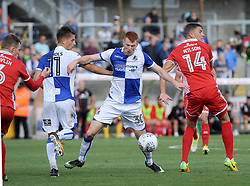 Rory Gaffney of Bristol Rovers wins possession from James Wilson of Walsall - Mandatory by-line: Neil Brookman/JMP - 09/09/2017 - FOOTBALL - Memorial Stadium - Bristol, England - Bristol Rovers v Walsall - Sky Bet League One