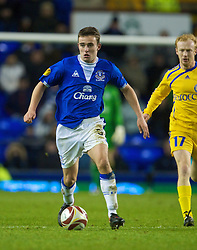 LIVERPOOL, ENGLAND - Thursday, December 17, 2009: Everton's Jose Baxter in action against FC BATE Borisov during the UEFA Europa League Group I match at Goodison Park. (Pic by David Rawcliffe/Propaganda)