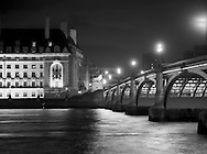County Hall and Westminster Bridge<br /> <br /> April 1981