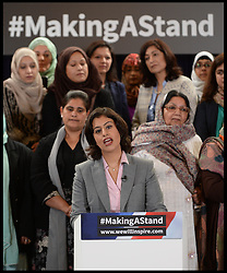 ©Licensed to i-Images Picture Agency. 24/09/2014. London, United Kingdom. Sara Khan launches the #makingastand-British Muslim Women New Campaign Against ISIS at Rusia, London. Picture by Andrew Parsons / i-Images