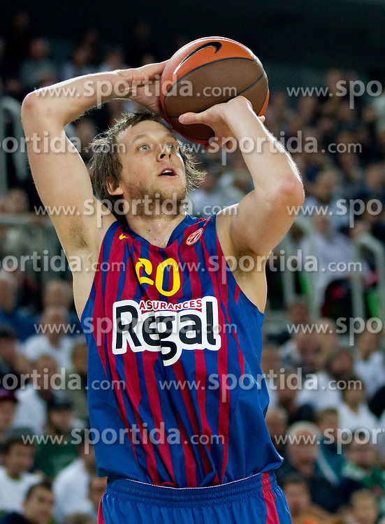 Joe Ingles of FC Barcelona Regal during basketball match between KK Union Olimpija and FC Barcelona Regal of 1st Round in Group D of Regular season of Euroleague 2011/2012 on October 20, 2011, in Arena Stozice, Ljubljana, Slovenia. Barcelona defeated Union Olimpija 86-64. (Photo by Vid Ponikvar / Sportida)