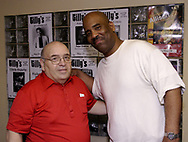 Jerry Gillotti (left) with Walter Beasley at Gilly's Niteclub in Dayton, Friday, May 11th.