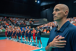 11-08-2019 NED: FIVB Tokyo Volleyball Qualification 2019 / Netherlands - USA, Rotterdam<br /> Final match pool B in hall Ahoy between Netherlands vs. United States (1-3) and Olympic ticket  for USA / Coach Hohn Speraw of USA