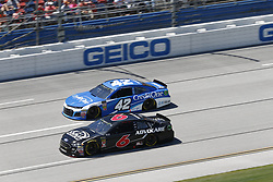 April 29, 2018 - Talladega, Alabama, United States of America - Kyle Larson (42) and Trevor Bayne (6) battle side by side down the front stretch for position during the GEICO 500 at Talladega Superspeedway in Talladega, Alabama. (Credit Image: © Justin R. Noe Asp Inc/ASP via ZUMA Wire)