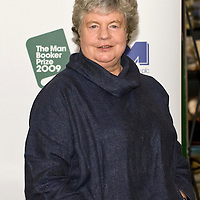 .LONDON, ENGLAND - OCTOBER 05: Man Booker Prize shortlisted authorr A S Byatt poses with her book The Children's Book at Hatchards in Piccadilly, ahead of the Man Booker Prize 2009 on October 5, 2009 in London, England...***Agreed Fee's Apply To All Image Use***.Marco Secchi /Xianpix. tel +44 (0) 771 7298571. e-mail ms@msecchi.com .www.marcosecchi.com