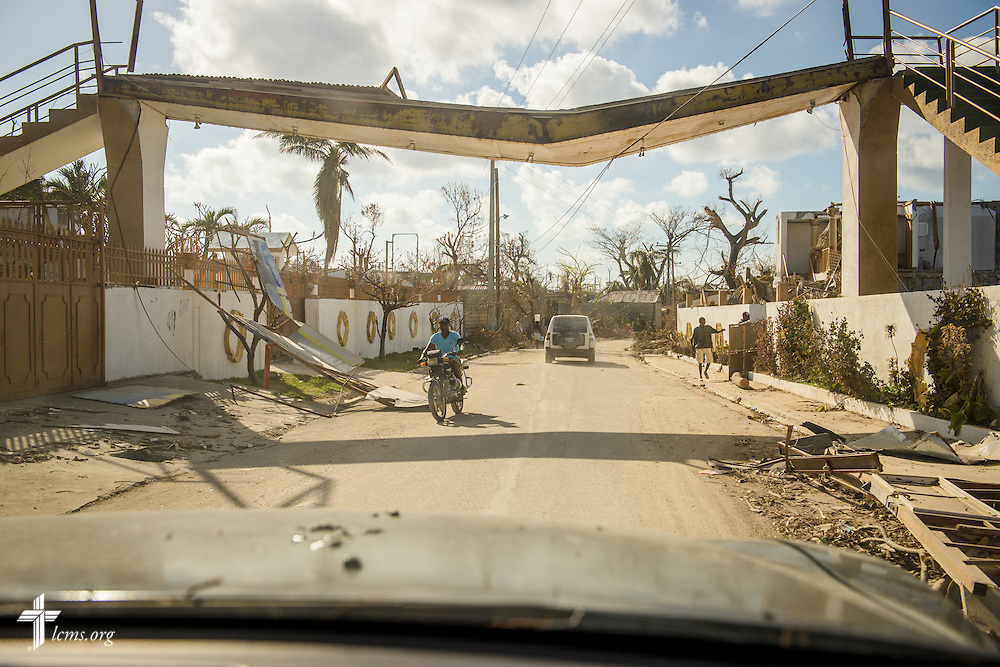 Damage from Hurricane Matthew is widespread on Wednesday, Oct. 12, 2016, in Port-Salut, Haiti. LCMS Communications/Erik M. Lunsford