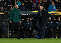 Football - 2019 / 2020 UEFA Europa League - Round of Thirty-Two, First Leg: Club Bruges vs. Manchester United<br /> <br /> Philippe Clement [BEL], Manager of Club Brugge, shows his frustration at the 5th official at Jan Breydel Stadium.<br /> <br /> COLORSPORT/DANIEL BEARHAM