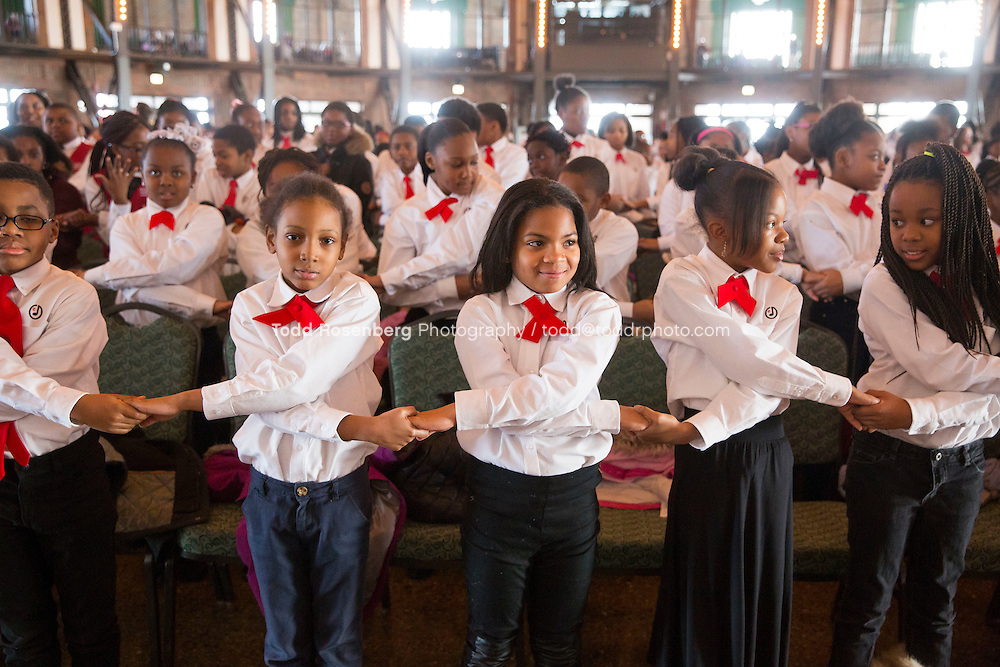 2/10/16 12:38:05 PM <br /> Chicago Children's Choir Black History Month Navy Pier Celebration. <br /> <br />  &copy; Todd Rosenberg Photography 2016