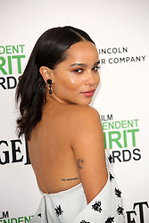 Zoe Kravitz at the 2014 Film Independent Spirit Awards Arrivals, Santa Monica Beach, Santa Monica, United States, Saturday, 1st March 2014. Picture by Hollywood Bubbles / i-Images<br /> UK ONLY
