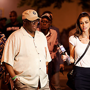 Mayor Sly James interviewed on the street by a WDAF Fox 4 reporter.
