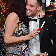 Matthew Cook and Sexpert, Louise Van Der Velde attend Rochay High Society Soiree with Jovoy at Westbury Mayfair grafton suite on 21 November 2019, London, UK.