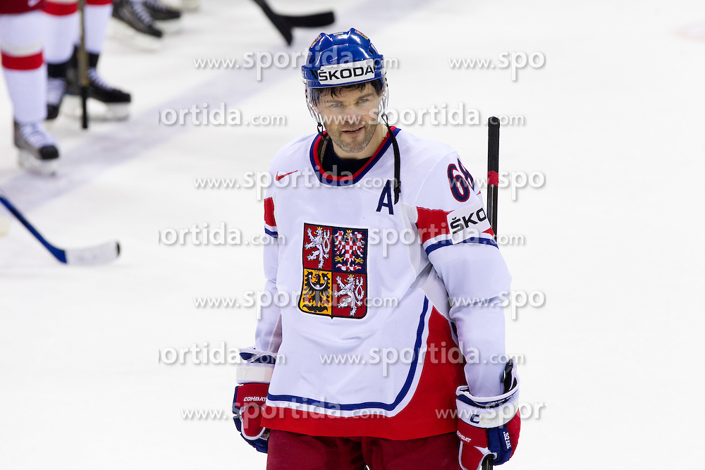 Jaromir Jagr  of Czech republic after the  ice-hockey match between Germany and Czech republic of Group E in Qualifying Round of IIHF 2011 World Championship Slovakia, on May 9, 2011 in Orange Arena, Bratislava, Slovakia. Czech republic defeated Germany 5-2. (Photo By Vid Ponikvar / Sportida.com)
