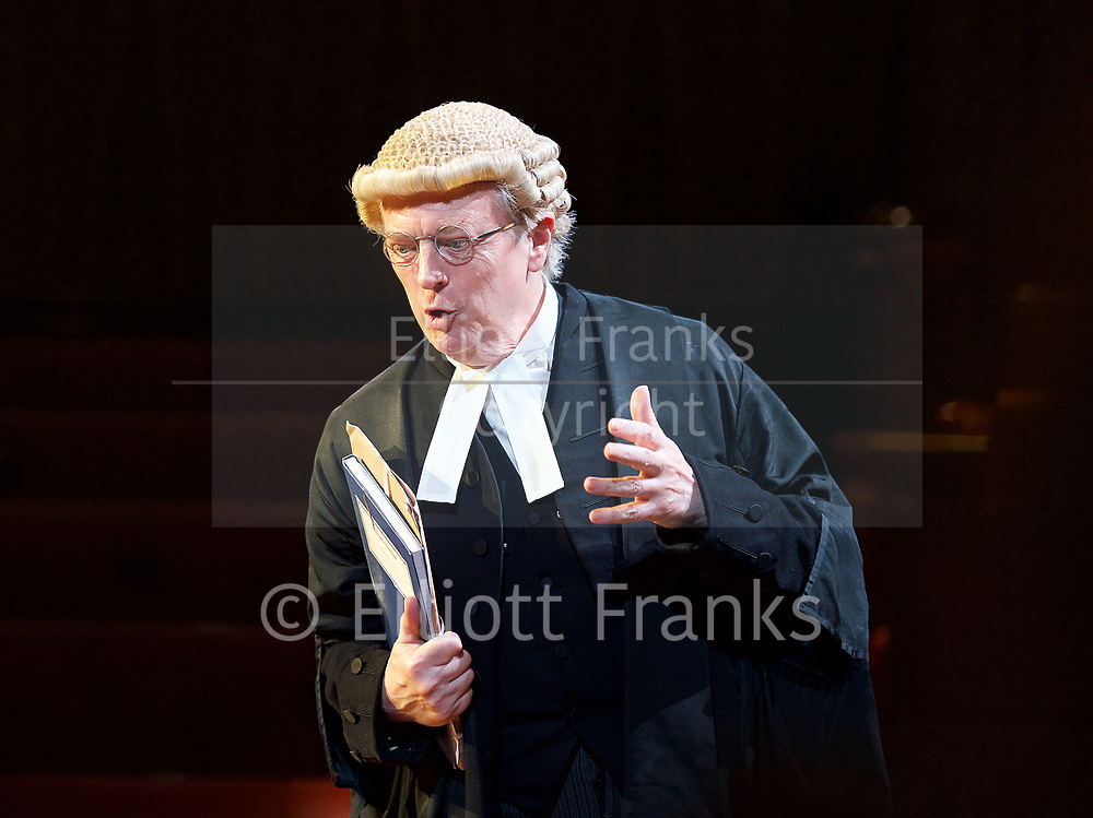 Witness for the Prosecution by Agatha Christie <br /> at London County Hall, Southbank, London, Great Britain <br /> press photocall <br /> 20th October 2017 <br /> <br /> directed by Lucy Bailey <br /> <br /> \<br /> <br /> Philip Franks as Mr Myers QC <br /> <br /> <br /> <br /> <br /> <br /> Photograph by Elliott Franks <br /> Image licensed to Elliott Franks Photography Services