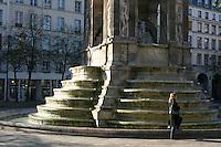 Monument, fountain, Paris, France<br />
