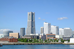 Landmark Tower and skyline of modern Minato Mirai district of Yokohama in Japan