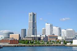 Landmark Tower and skyline of modern Minato Mirai district of Yokohama in Japan