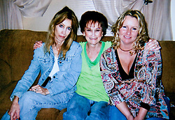 19 Jan,2006. Collect photograph. Photo taken 2005. Marshall Bruce Mathers III, aka Eminem's relatives. L/R; Eminem's mother Debbie Nelson, grandmother Betty Kresin and aunt Tanya Deweese in happier times, Christmas 2005. Tanya is actually Eminem's half aunt. Debbie Nelosn, Eminem's mother is critically ill with cancer and may not have long to live. The family regret the splits and divisions they have with the rapper and hope to find some form of reconciliation.<br /> Photo Credit: Kresin via  www.varleypix.com